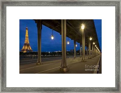 Bir Hakeim And Eiffel Framed Print by Brian Jannsen