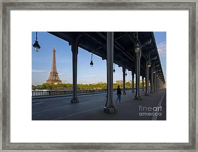 Bir Hakeim And Eiffel Daytime Framed Print by Brian Jannsen