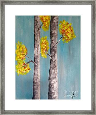 Birch Abstract Framed Print by Gail Nandlal