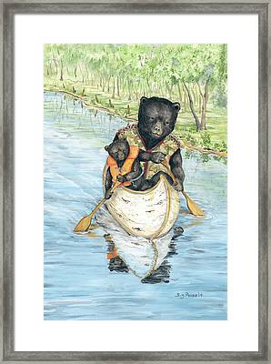 Birch Bark Canoe Framed Print