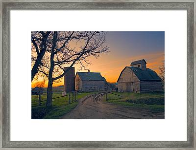 Birch Barn 2 Framed Print