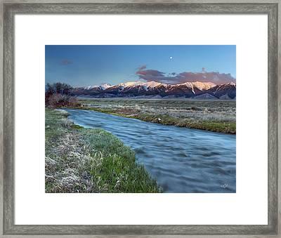 Birch Creek Framed Print by Leland D Howard
