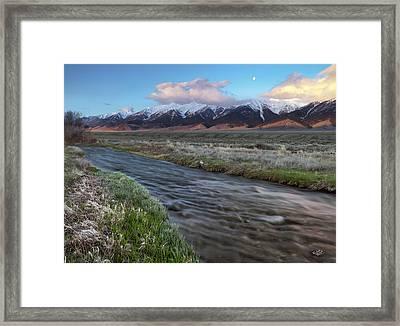 Birch Creek Sunrise Framed Print by Leland D Howard