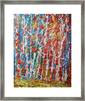 Birch Forest Abstract  No.2 Framed Print