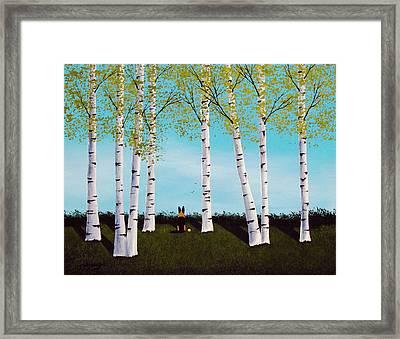 Birch Forest Framed Print
