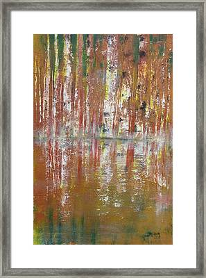 Framed Print featuring the painting Birch In Abstract by Gary Smith