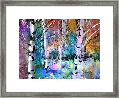 Birch Magic Framed Print