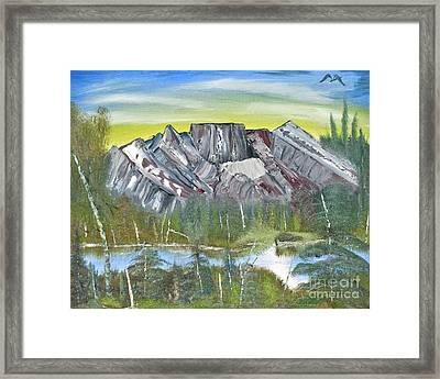 Birch Mountains Framed Print