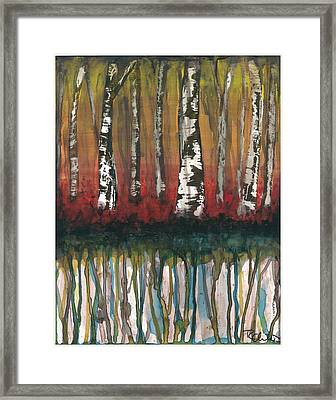 Birch Trees #2 Framed Print by Rebecca Childs