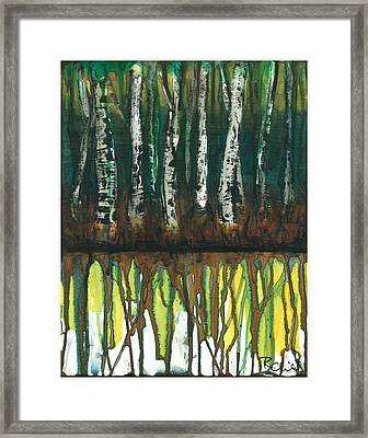 Birch Trees #3 Framed Print by Rebecca Childs
