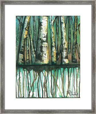 Birch Trees #5 Framed Print by Rebecca Childs