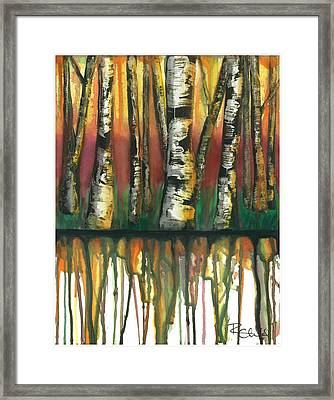 Birch Trees #6 Framed Print by Rebecca Childs