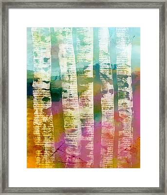 Birch Trees Framed Print by Lisa Noneman