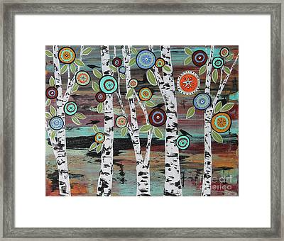Birch Woods Framed Print by Karla Gerard