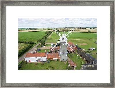 Bircham Windmill Framed Print by Steev Stamford