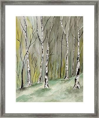 Birches Before Spring Framed Print