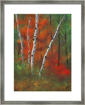Birches II Framed Print by Garry McMichael