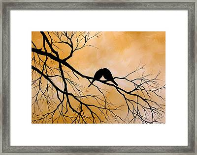 Bird Art Lost Without You By Amy Giacomelli Framed Print by Amy Giacomelli
