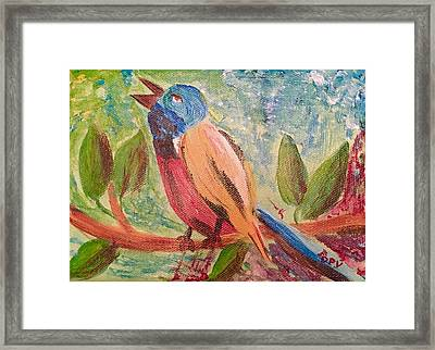 Bird At Rest Framed Print