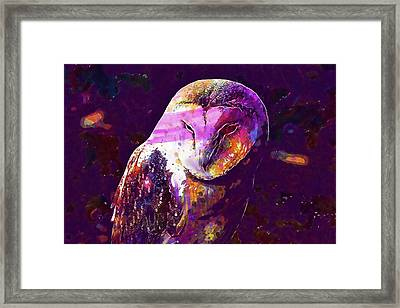 Framed Print featuring the digital art Bird Barn Owl Owl Barn Animal  by PixBreak Art