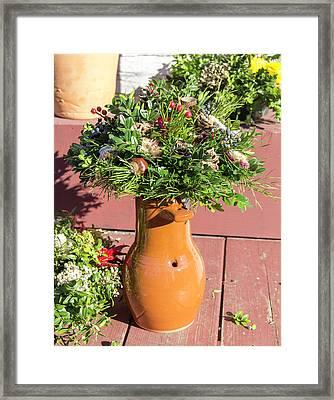 Bird Bottle Arrangement 02 Framed Print