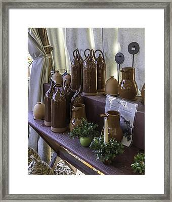 Bird Bottles For Sale Framed Print