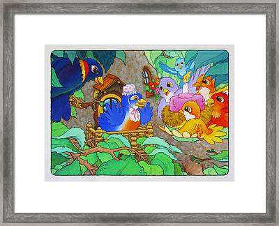Bird-day Framed Print by Terry Anderson