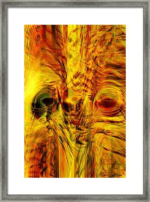 Bird Face Framed Print by Linda Sannuti