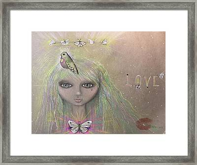 Bird From Spirit World  Framed Print