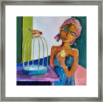 Bird Girl Framed Print