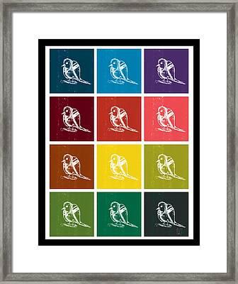Bird Grid Color Framed Print by David Doucette
