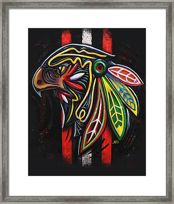 Bird Head Framed Print by Michael Figueroa