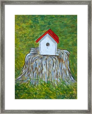 Bird House Framed Print by Norman F Jackson