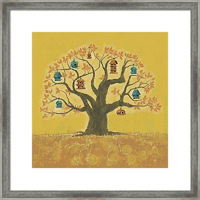 Bird Houses 01 Framed Print