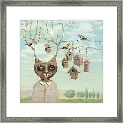 Bird Houses Framed Print by Catherine Swenson