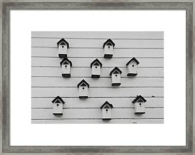 Bird Houses Framed Print by Craig Perry-Ollila