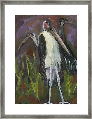 Framed Print featuring the painting Bird Legs by Susan  Spohn
