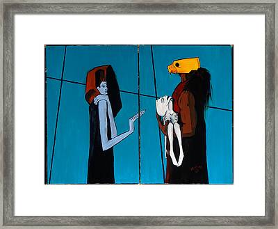 Bird Mask 36x48 Framed Print