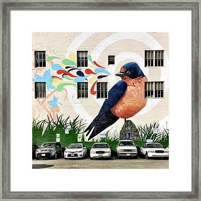 Bird Mural Framed Print