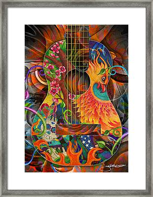 Bird Of Fire Guitar Framed Print