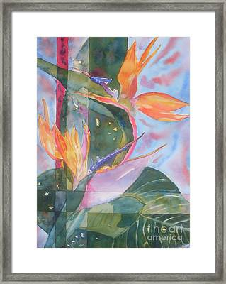 Bird Of Paradise Abstract Framed Print by Warren Thompson