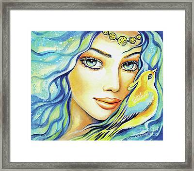 Bird Of Secrets Framed Print by Eva Campbell