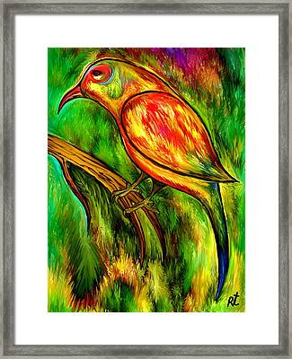 Bird On A Branch Framed Print by Rafi Talby