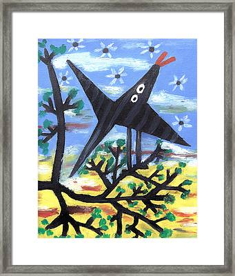 Bird On A Tree After Picasso Framed Print