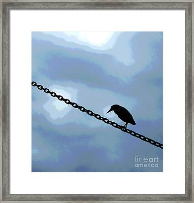 Bird On A Wire Framed Print by Sharon Eng