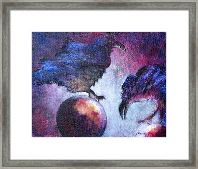 Bird Or Fiend Framed Print by Sandy Applegate