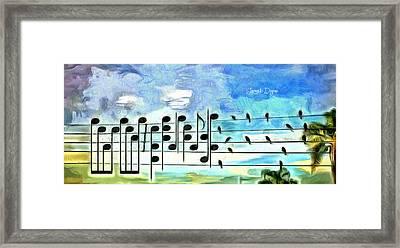 Bird Orchestra - Da Framed Print by Leonardo Digenio