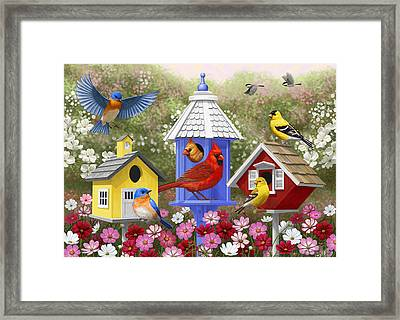 Bird Painting - Primary Colors Framed Print by Crista Forest