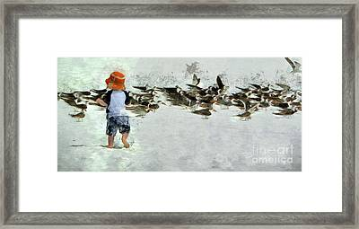 Framed Print featuring the photograph Bird Play by Claire Bull