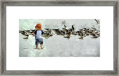 Bird Play Framed Print